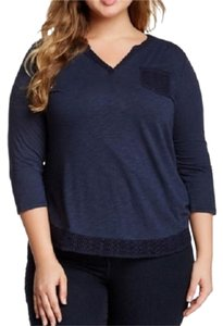 Lucky Brand Plus Size T Shirt Blue