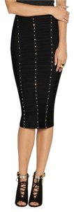 Herv Leger Bandage Studded Skirt Black
