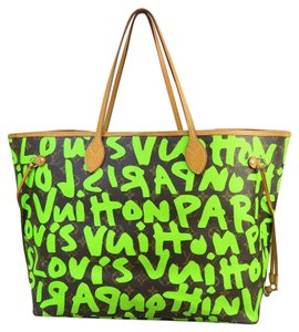 Louis Vuitton Tote Green Monogram Lv Large Shoulder Bag