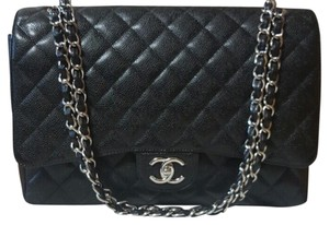 Chanel Maxi Black Caviar Classic Shoulder Bag
