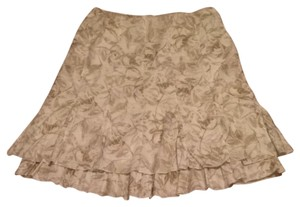 Coldwater Creek Skirt Cream Print
