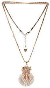 Betsey Johnson New Betsey Johnson Goldtone Rhinestone Pendant Necklace