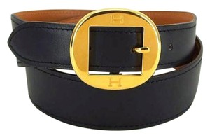 Hermès Double H Logo Belt 211294