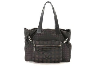 Chanel Black Set Tote in Brown