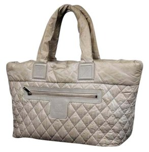 Chanel Quilted Satchel in Grey