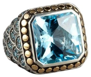 John Hardy John Hardy 18k Gold and Sterling Silver Naga Blue Topaz Ring