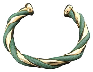 Hermès Green Gold Twist Bangle 211329