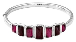Ippolita Ippolita Sterling Silver Wonderland 7 Stone Hinged Bangle Bracelet
