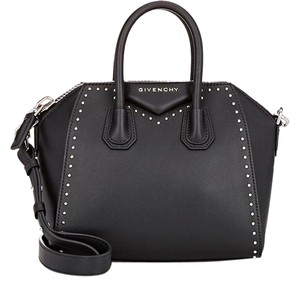 Givenchy Studded Leather Satchel in Black
