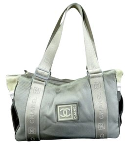 Chanel Boston Duffle Cc Sport Tote in gray