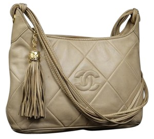 Chanel Brown Tassle Tassel Camera Shoulder Bag