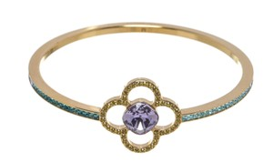 Louis Vuitton Louis Vuitton Purple Multicolor Crystal Bangle Bracelet