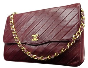 Chanel Classic Diagonal Quilted Shoulder Bag