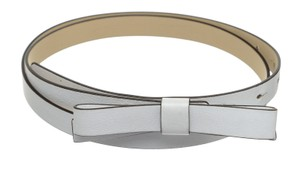 Kate Spade Kate Spade White Leather Skinny Bow Belt (Size L)