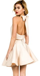 Luxxel Two Piece Set Skirt And Top Bow Crop Top Dress