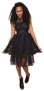 Endless Rose Midi A-line Lace Tulle Tulle Skirt Dress
