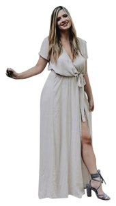 Cream Maxi Dress by Olivaceous Maxi Maxi Wrap