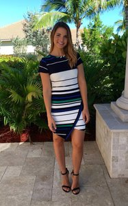 Other short dress Striped Asymmetrical on Tradesy