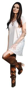 Pixie Dust short dress Cream Lace Up Lace on Tradesy