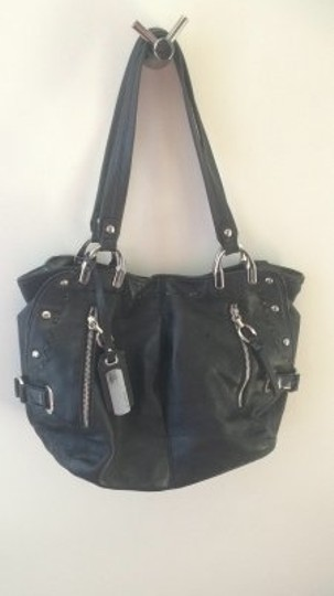 B. Makowsky Leather Tote in black