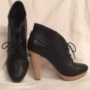 Messeca New York Platform Lace Ups Pumps Leather Black Tan Boots