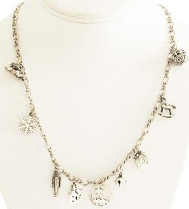 James Avery JAMES AVERY Sterling Silver 9 Christmas Charms and Chain Necklace