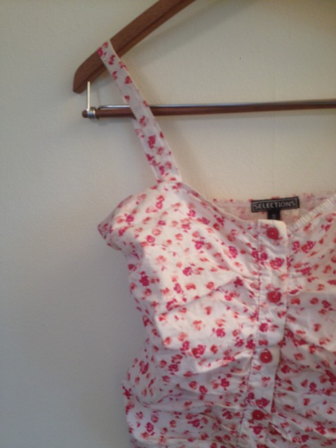 Other Corset Sparkle Pin-up Retro Top Pink floral