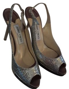 Jimmy Choo Champagne Platforms