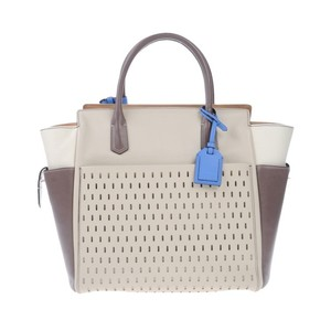 Reed Krakoff Tote in Beige Blue Brown