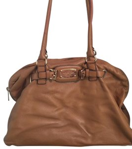 Michael Kors Collection Leather Geniune Satchel in Luggage