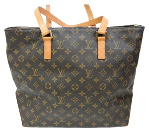 Louis Vuitton Mm Gm Tote in Brown