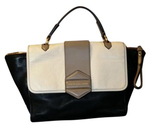 Marc by Marc Jacobs Satchel in Black and white