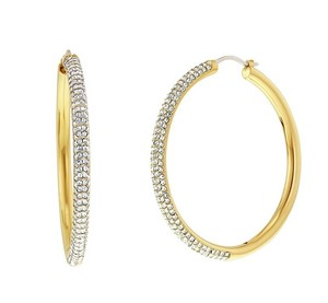 Michael Kors Michael Kors MKJ4933710 Women's Gold tone Crystals Hoop Earrings