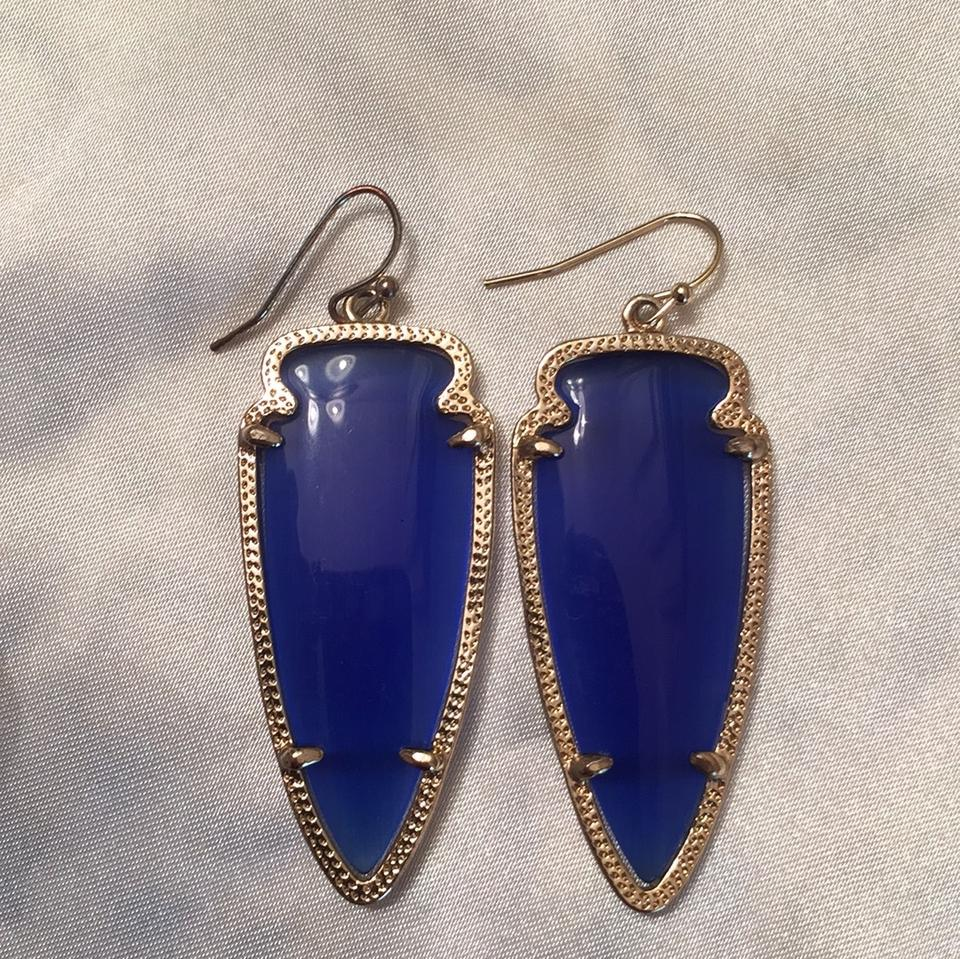 dangle chandelier cobalt drop earrings