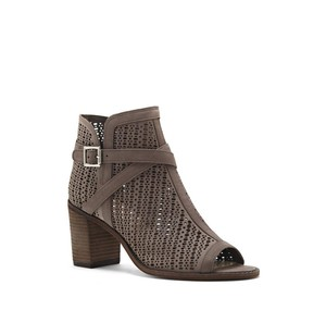 Vince Camuto Tenay Stacked Heel Stone Taupe Boots