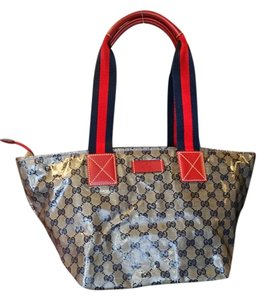 Gucci Tote in Red and Beige