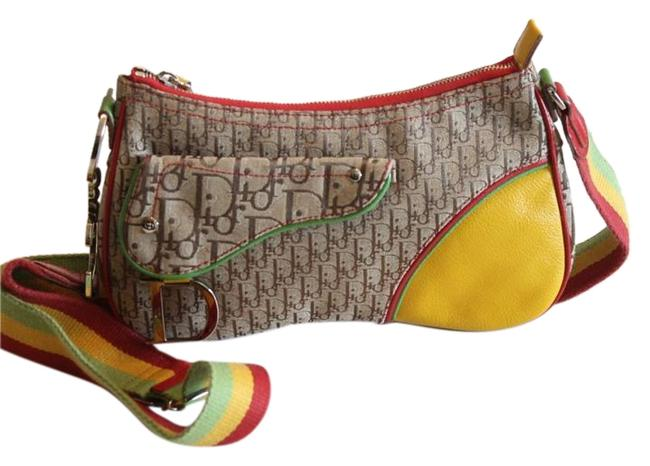 Item - Rasta Collection Red Canvas Cross Body Bag