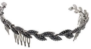 Zara Gunmetal Glitzy Laurel Wreath Reverse Hairband Hair Crown