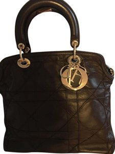 Dior Granville Shoulder Satchel in brown