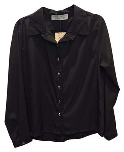 Vintage Havana Button Down Shirt Black