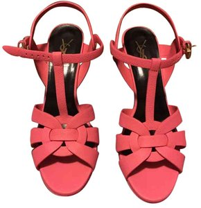 Saint Laurent Rose Eclair Platforms