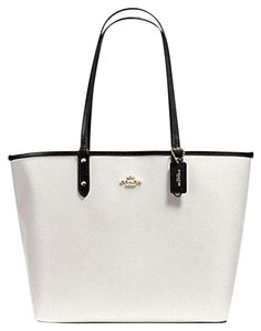 Coach Satchel 36126 36609 Tote in Chalk Black GOLD TONE
