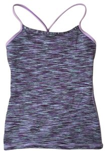 Lululemon Sports Bra Top Purple/multicolor