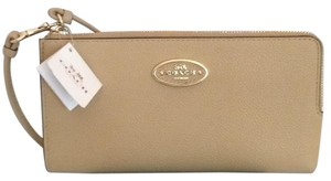 Coach Coach Refined Grain Leather Zip Wallet