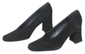 Nickels Suede Professional Black Suede Pumps
