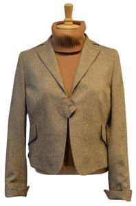 Akris Punto Akris Plaid Wool Silk Brown Jacket