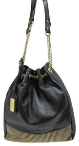 Badgley Mischka Studded Leather Shoulder Bag