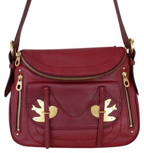 Marc by Marc Jacobs Bird Red Leather Crossbody Shoulder Bag