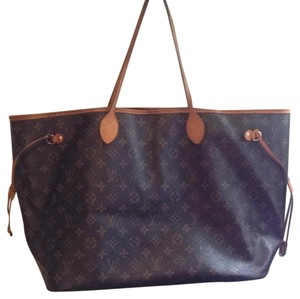 Louis Vuitton Neverfull Artsy Speedy Gm Monogram Tote in Brown