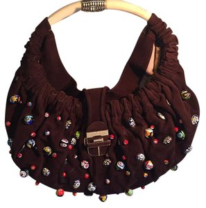Jimmy Choo Beaded Hobo Shoulder Bag
